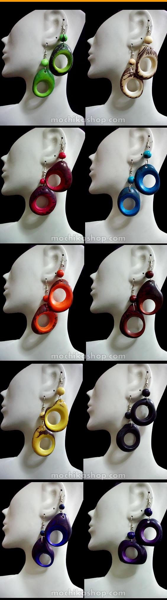 6  Tagua Earrings
