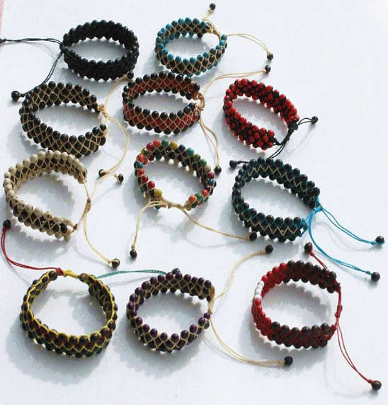 6 Bracelets of Achira Seeds