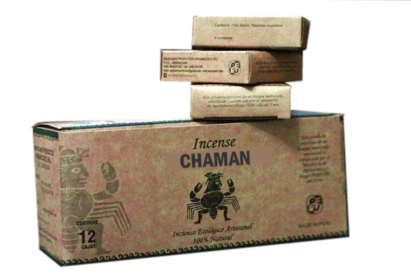 CHAMAN - PERU PALO SANTO HOLY WOOD INCENSES - PACK X 100 BOXES