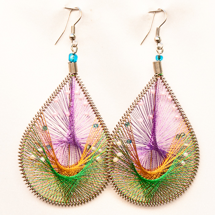 50 Wholesale Thread Earrings with Mostacilla Beads
