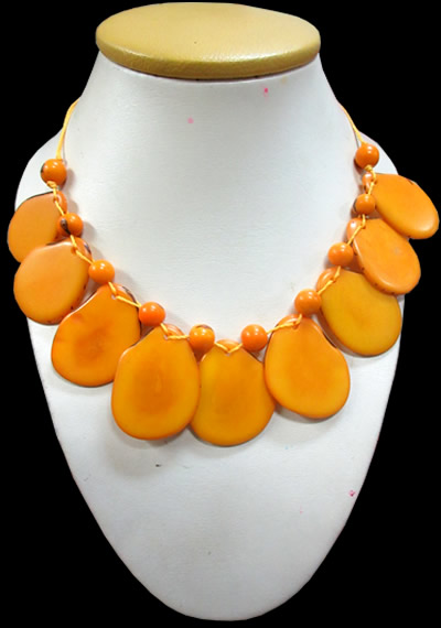 12 Peruvian Wholesale Tagua Necklaces Assorted Colors