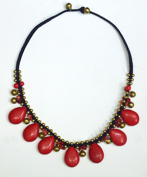 Chokers made of Coral Stone (15)
