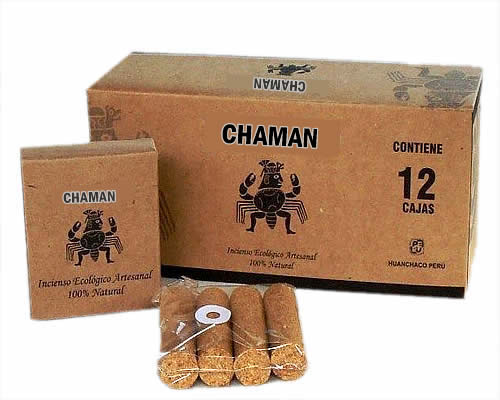 CHAMAN - PALO SANTO HOLY WOOD INCENSE - PACK X 04 BOXES