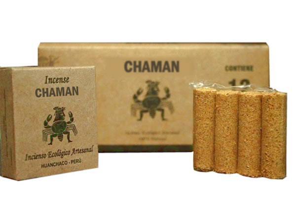 CHAMAN - PERU PALO SANTO HOLY WOOD INCENSES - PACK X 24 BOXES