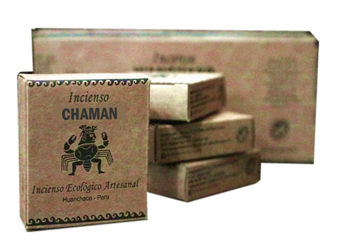 CHAMAN - PERUVIAN PALO SANTO HOLY WOOD INCENSES- PACK X 50 BOXES