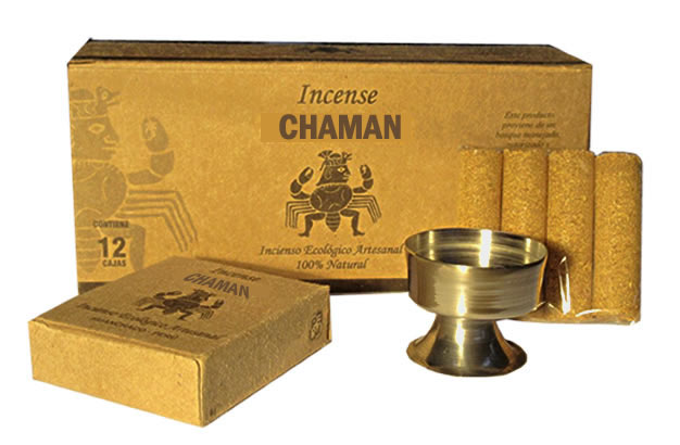 CHAMAN - PERU PALO SANTO HOLY WOOD INCENSES - PACK OF 12 BOXES