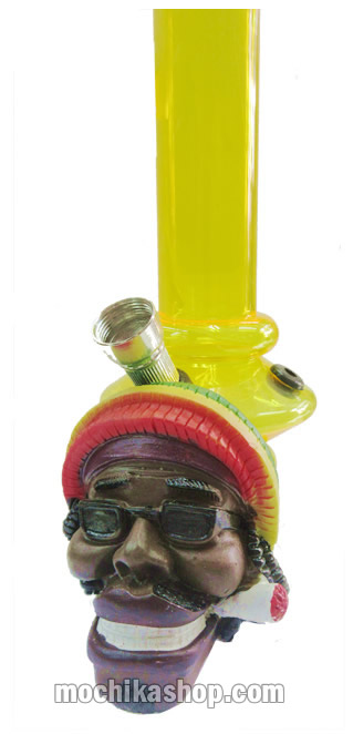 Peruvian Smoking Water Pipe Rasta Color Handmade Acrylic Duropox