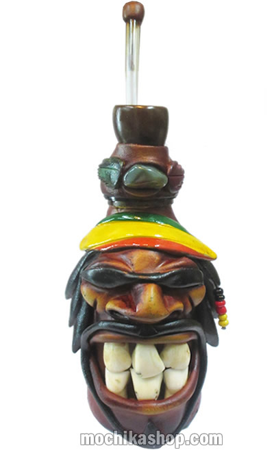 Peruvian Smoking Water Pipes Rasta Duropox Medium Size - Pack 4 Units