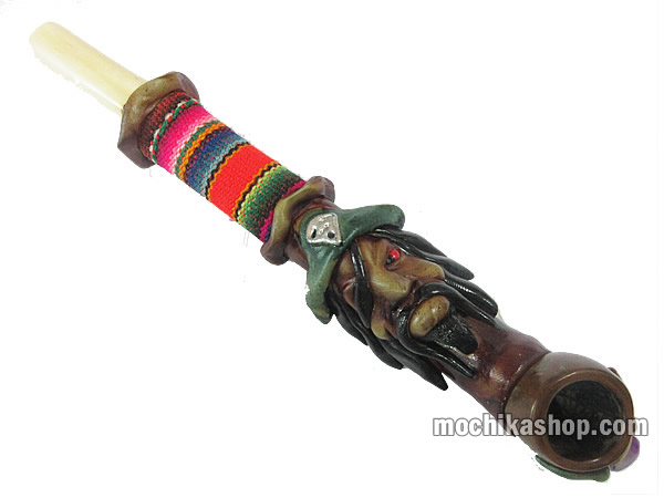 Peruvian Smoking Pipe Handcrafted Cusco Blanket Duropox