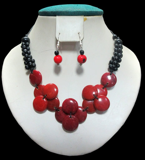 04 Wholesale Peruvian Set Tagua Necklaces Mixed Models